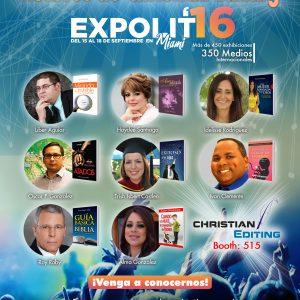 Autores de Christian Editing dirán presente en Expolit 2016