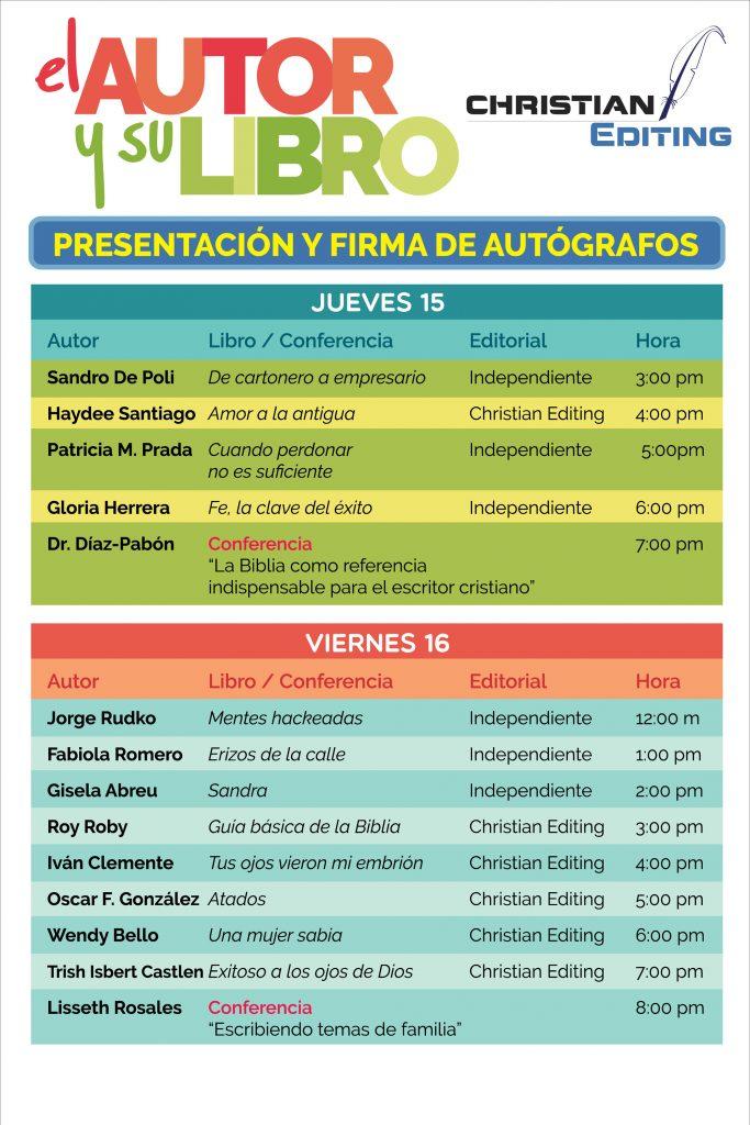 Programa de autores, jueves